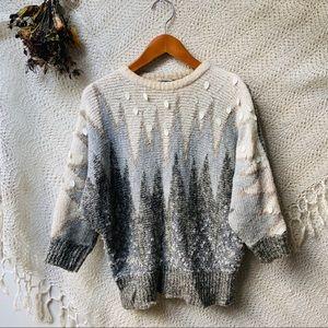 Vtg Dolman Sleeve Knit Sweater